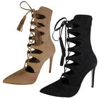 Steve Madden Womens Piper High Heel Lace Up Bootie Shoes