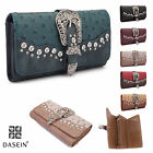 New Dasein Women Trifold Ostrich Leather Wallet Card Bag Checkbook Purse For Mom