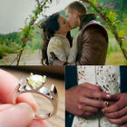 Once upon a time inspired Snow White Mary Margaret Green Engagement Ring
