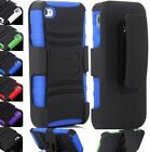 Shockproof Rugged Belt Clip Holster+KickStand Stand Case Cover for iPhone 4 4s