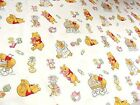 100% Cotton Fabric Material Disney - BABY CREAM WINNIE THE POOH