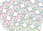 'Thank-you for coming to my Baby Shower' Party x 12 Stickers Green / Blue / Pink