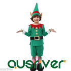 Child Christmas Elf Costume Santa Helper Xmas Fancy Dress Up Party Outfit