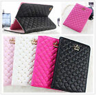New Bling Crown Girly Wallet Slim Flip Leather cover Case for iPad 2 3 4 Air 6 7