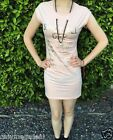 NEW Sexy Womens Summer Short Dress with necklace luxury Party small medium