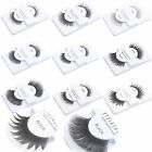 100% Human Hair Synthetic Fibers False Eye Lashes - Black Color - 9Type Choose