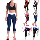 Women High Waist Leggings Yoga Sport Running Pants Fitness Gym 3/4 Elastic Pants