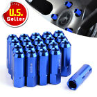 20pc Blue 60MM Tuner Wheel Lug Nuts M12x1.5 Aluminum Extended fits Ford Mazda US