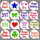 Various 60mm Cupcake / Coffee Stencils Masks - cakes / cards / crafts