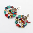New Fashion Bohemia Vintage Color Stones Beads Statement Drop Earrings For Women