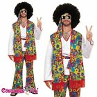 Mens 1960s 1970s Retro Groovy Guy Costume Hippie Hippy 60s 70s Disco Fancy Dress