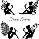 Die Cut Out Silhouette Flower Fairies topper x 6/9/12 Card Making, fairy jar