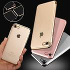 Shock Proof Case Silicone Cover Metallic Bumper Screen Film for iPhone / Galaxy