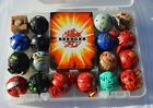 LOT OF 18 BAKUGAN BATTLE BRAWLERS, 21 CARDS AND CASE