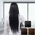 Parted Bang Girl Wig Long Curly Wavy Straight Hair Cosplay Brown Ombre Full Wig