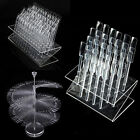 Nail Polish Art 32/64/120 Stick Clear Practice Tips Rack Display Stand Holder