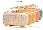 candy skull ring knuckle dusterclutch bag ivory, green, hot pink, beige, blue