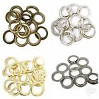 40mm Metal Curtain Eyelets Brass Rings Round Eyes Leather Crafts Drapes - 10 Pcs