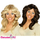 1970S 70s LONG BLONDE Brown FLICK WIG 60s 1960s 70's 60's Wigs Costume Accesory