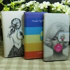 Marilyn Monroe Rainbow Girl Wallet Flip Case cover for Microsoft Nokia Lumia