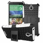 Shockproof Rugged Dual Hybrid Armor for HTC Desire 510 512 Kick Stand Case Cover