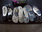 Brand New Snoozies Distressed Blues Non-skid Sole Slippers You Choose