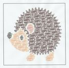 PERSONALISED HEDGEHOG BIRTHDAY/CHRISTMAS CARD - BOY/GIRL/CHILD/ADULT - ANY NAME-