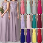 Stock New Formal Wedding Evening Ball Gown Party Prom Bridesmaid Dress Size 6-18