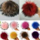 13cm Large Real Raccoon Fur Ball  Pom Charm Handbag Clothes Uk
