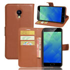 9 Colors Leather Case Flip Wallet Cover Stand Pouch For Meizu m5