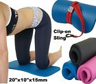 KNEE PAD CUSHION Yoga Exercise Workout FREE Sling 15mm Thick Mini Mat image