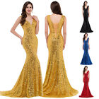 Sequined Long Evening Ball Gowns Formal Party Wedding Bridesmaid Prom Dresses