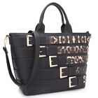New Dasein Womens Handbag Faux Leather Tote Bag Satchel Shou