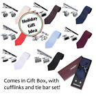Men's Necktie Set with Cufflinks and Tie Bar in Gift Box - Holiday Gift Idea!