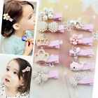 Girl Baby Pearl Crown Flower Hair Clip  Princess Hairpins Hair Accessories