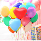 "1-250pc 12"" 10 Color Heart Shape Latex Balloons Wedding Party Decoration Helium"