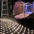 96/200/880 LED Mesh Net String Fairy Lights Xmas Party Wedding With US Adapter