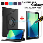 Rotating Case Leather+Tempered Glass Film For Samsung Galaxy Tab A 10.1 SM-P580