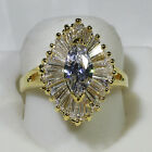18K Yellow Gold Filled 5CT CZ Women Fashion Wedding Jewelry Ring R0579 Size 5-10