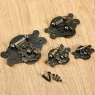 Mini Vintage Wooden Box Latch Hasp Lock Durable Hardware Decorative with Screws