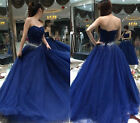 Sweetheart Blue Sweet 16 Quinceanera Dress Long Formal Pageant Prom Evening Gown