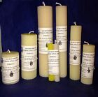 Handmade Beeswax Imbolc Candle Pagan Wiccan Witch Spell