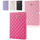 Luxury Crown Slim Leather Smart Wake Stand Case Cover For iPad Mini 2/3/4 Air 2