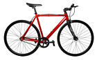 LoCal Bike Elysian Single Speed Fixed Track Fixie Complete Bicycle Red MD