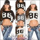 NEW sexy LADIES FUNKY CROP JUMPER knit top 6 8 10 12 14 WOMEN'S CROPPED KNITWEAR