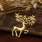 Women Fashion Christmas Animal Deer Brooch Pin Gold Silver Plated Charm Jewelry