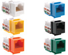 Keystone Jack Cat6 Network Ethernet 8P8C RJ45 110 Punchdown Lot Pack Plug