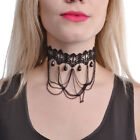 Poizen Industries Pizzo Chocker Donne Nero,Collana nero collana Vittoriano