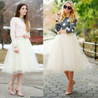 WOMEN'S NEW TUTU PETTICOAT LONG PARTY SKIRT TULLE GOTH BALLET DRESS 5 COLORS