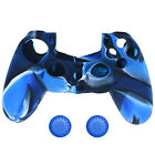 Silicone Cover Case Skin & 2pcs Joystick Caps for PlayStation 4 PS4 Controller #